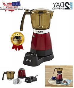 IMUSA USA B120-60008 Electric Espresso/Moka Maker, 3-6 Cups,