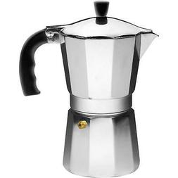 IMUSA USA B120-44V Aluminum Stovetop Coffeemaker 9-Cup, Silv