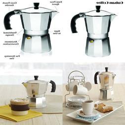 IMUSA USA, Silver B120-44V Aluminum Stovetop Coffeemaker 9-C