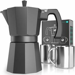 VIDEO Moka Pot Stovetop Espresso Maker - Coffee Gator, Rapid