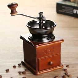 Vintage Grinder Manual Bean Retro Coffee Machine Espresso Ha