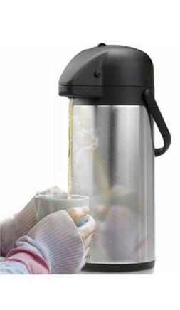 Vondior Stainless Steel Air Pot 3 Liter Thermal Beverage Dis